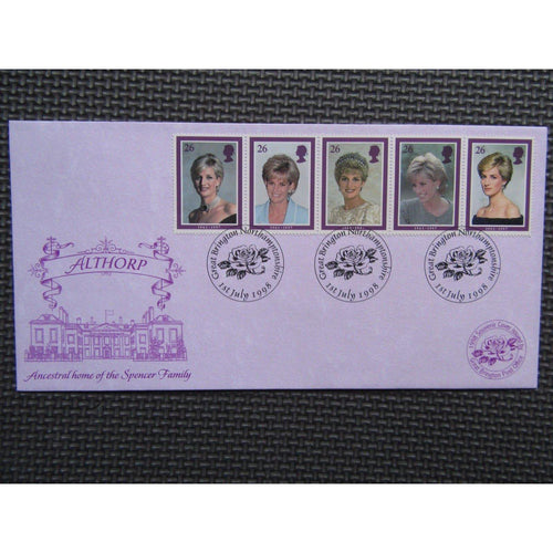 Diana, Princess Of Wales - 1988 Souvenir Cover from Great Brington Post Office - uk-cover-lover