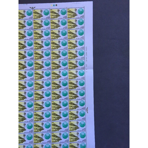 02/04/69 Notable Anniversaries 1s 9d England/Australia 1st Flight Stamp Sheet - uk-cover-lover
