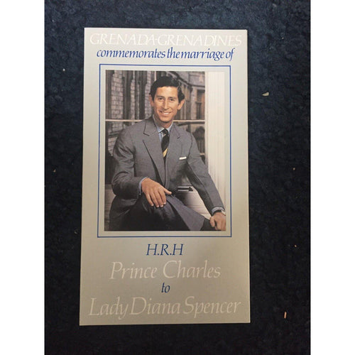 Grenada Celebrates The Wedding Of Prince Charles to Diana Spencer MNH Booklet - uk-cover-lover