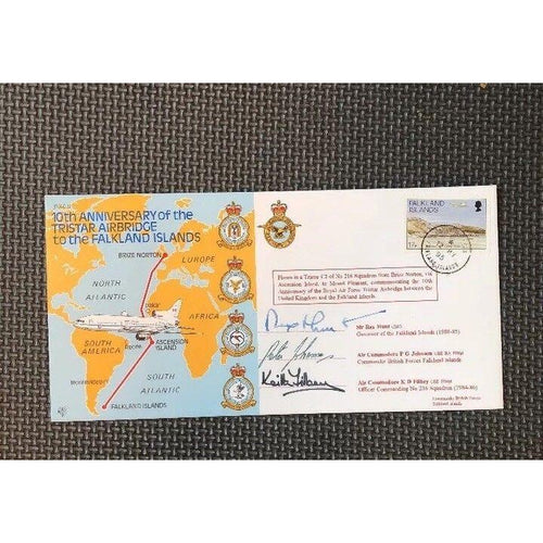 10th Anniv. The Tristar Airbridge To The Falkland Islands Signed Cover 12/05/95 - uk-cover-lover