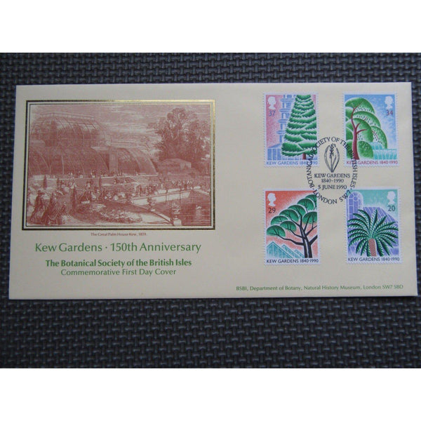 "G.B CoverCraft FDC ""Kew Gardens"" PM ""Botanical Society, SW7"" 05/06/90 - uk-cover-lover"