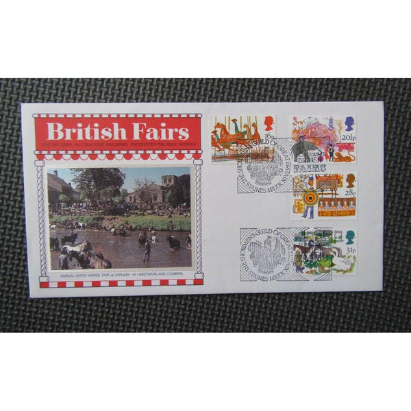 G.B First Day Cover - British Fairs - PM 'Showmen's Guild, Staines' 05/10/83 - uk-cover-lover