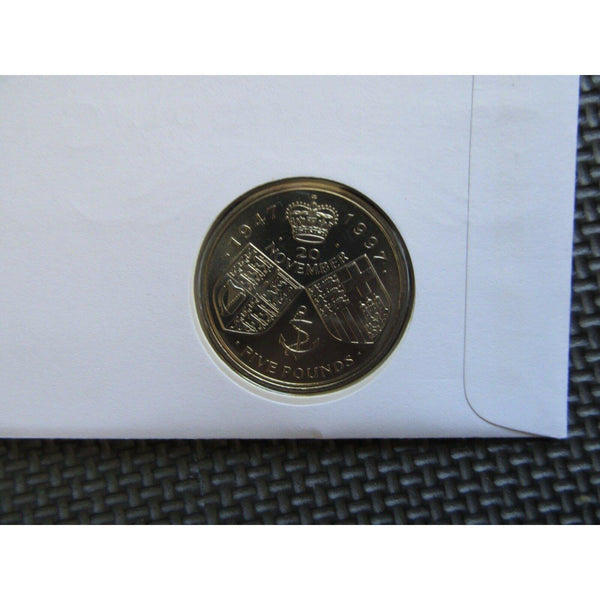 "Great Britain ""Golden Wedding Anniversary"" £5 Coin Cover 13/11/97 - uk-cover-lover"