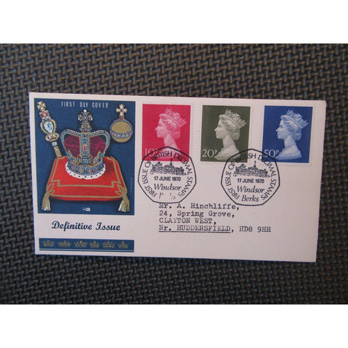 "G.B Definitive Cover ""10p, 20p & 50p"" PM ""Decimal Stamps Windsor"" 17/06/70 - uk-cover-lover"