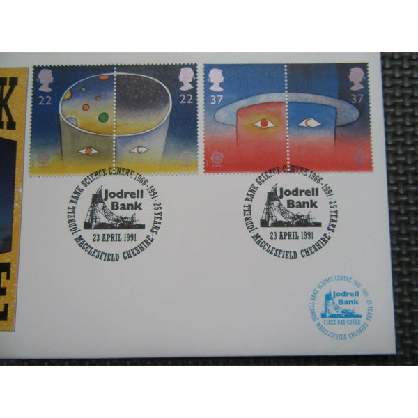 "G.B CoverCraft FDC ""Europe In Space"" PM ""Jodrell Bank Science Centre"" 23/04/91 - uk-cover-lover"