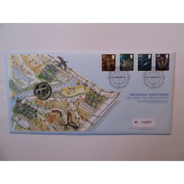 "G.B 2005 Coin Cover ""Exploring The Menai Straits"" Ltd Edition 01/03/05 - uk-cover-lover"