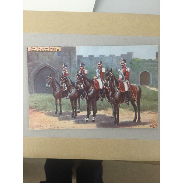 TUCK Military   The British Army Cavalry George I   Picture Puzzle Postcard Back - uk-cover-lover
