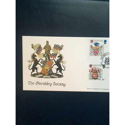 "17/01/84 Heraldry PM ""The Heraldry Society, WC"" BOCS (2) 24 CAT £15 - uk-cover-lover"