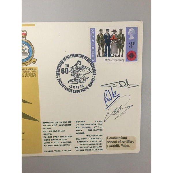 1972 60th Anniversary of RAF  No 3 Squadron Signed Cover - uk-cover-lover