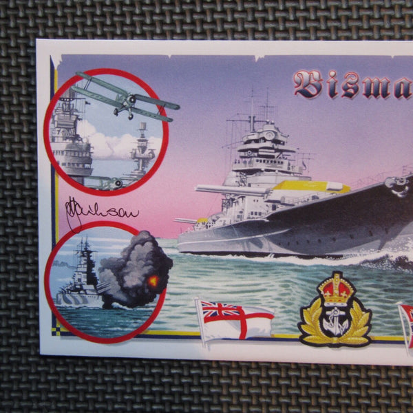 "G.B Bradbury Cover ""Sinking Of The Bismarck"" Signed Tony Jackson 27/05/01 - uk-cover-lover"