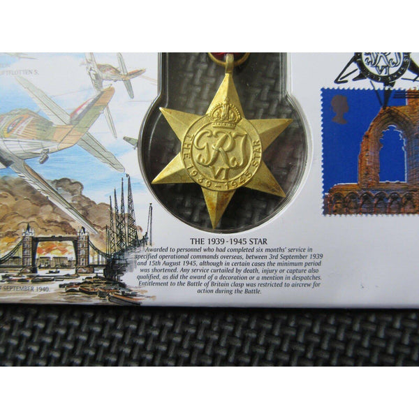 "1999 Benham Replica Medal Cover ""The 1939-1945 Star"" JS(MIL)11 - uk-cover-lover"