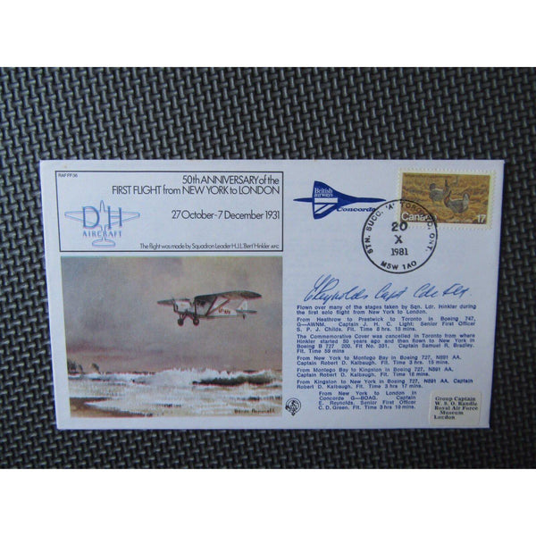 "RAF FF 36 Concorde Flown & Signed Cover ""Captain E Reynolds"" 20/10/81 - uk-cover-lover"