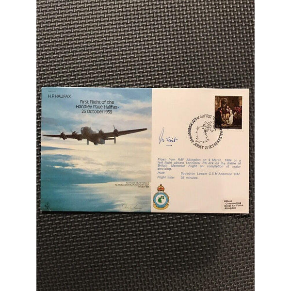 H.P. Halifax 1st Flight of the H.P Halifax Signed by J.B. Tait 25/10/83 - uk-cover-lover