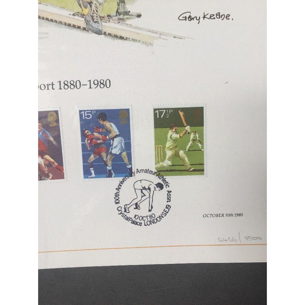 G.B FDC Sport 1880 - 1980 Lithograph -Crystal Palace 10/10/80 - Ltd Edition - uk-cover-lover