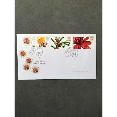 Australian Wildflowers - First Day Cover - $10, $5, $2 & $1 Stamps - 07/02/06 - uk-cover-lover