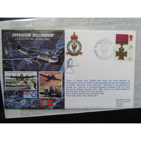 JS/50/42/6 'Operation Millennium' Cover - Signed 'R. N. Goodman' 30/05/92 - uk-cover-lover
