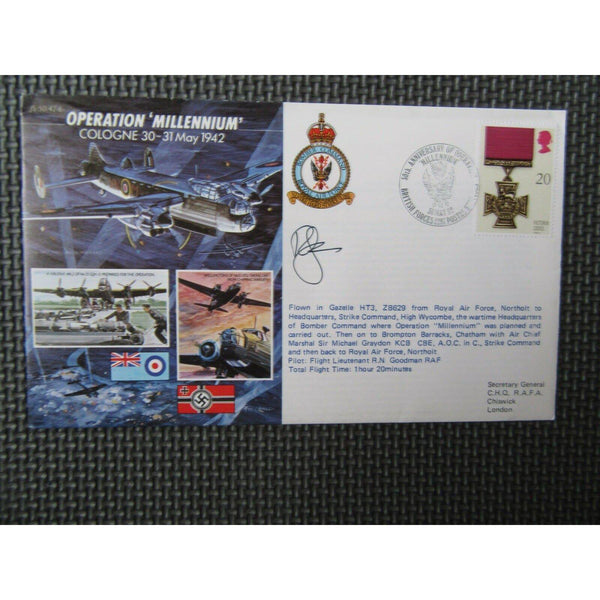 JS/50/42/6 'Operation Millennium' Signed & Flown Cover 30/05/92 - uk-cover-lover