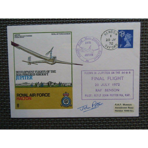 'Jupiter Development Flights' Signed 'John Potter' PM 'Final Flight' 1972 - uk-cover-lover