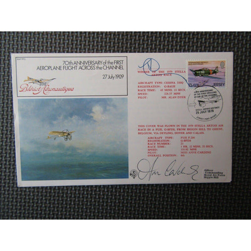"RAF FF 5 Flown Cover Signed By ""Miss Anne Carding"" 25/07/79 - uk-cover-lover"