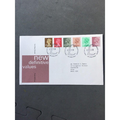 "G.B New Definitives 27/01/82 PM ""Windsor, Berks"" - uk-cover-lover"