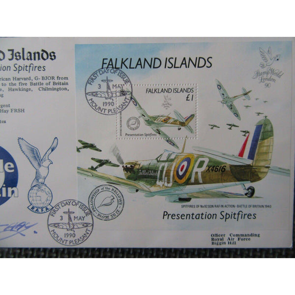 "RAFAM 4 - Battle Of Britain Flown Cover & Signed ""Lord Abbots-Hay"" 03/05/90 - uk-cover-lover"