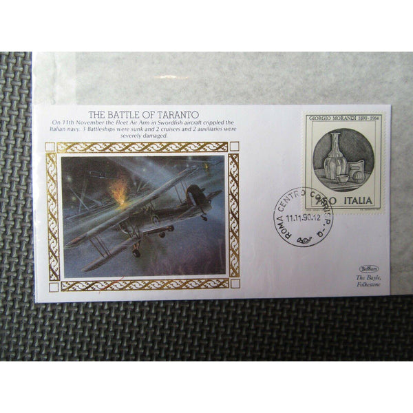 "Benham Small Silk WWII Cover ""The Battle Of Taranto"" 11/11/90 - uk-cover-lover"