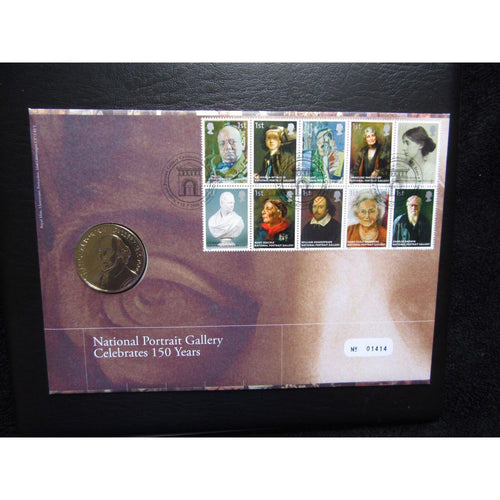 2006 G.B Royal Mail / Mint Coin Cover - National Portrait Gallery 150 Years - uk-cover-lover