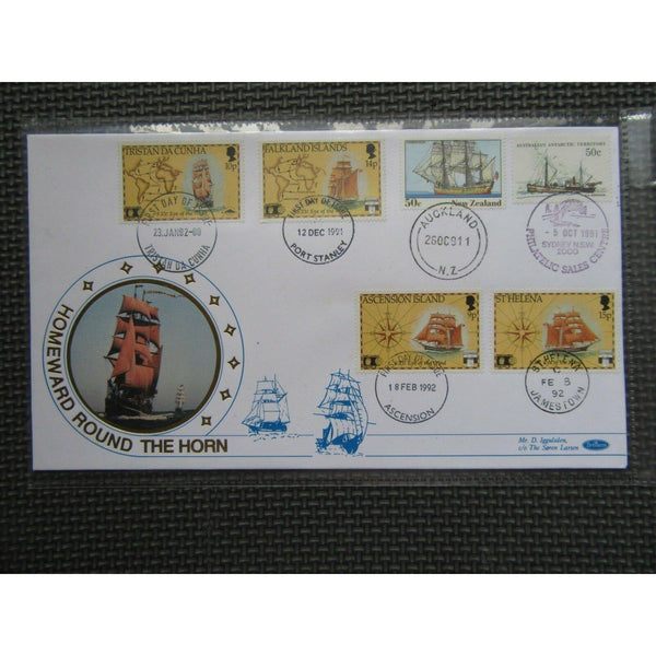 Benham FDC 'Homeward Round The Horn' Multiple Journey PM's (see pics) - uk-cover-lover