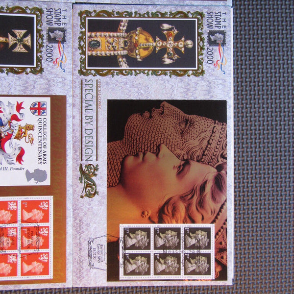G.B 'Special By Design' Set Of 4 Benham Booklet Panes 15/02/00 Ltd Edition - uk-cover-lover