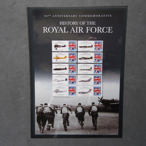 "G.B 2005 Stamp Sheet ""90th Anniv. Commem.  History Of The Royal Air Force"" - uk-cover-lover"
