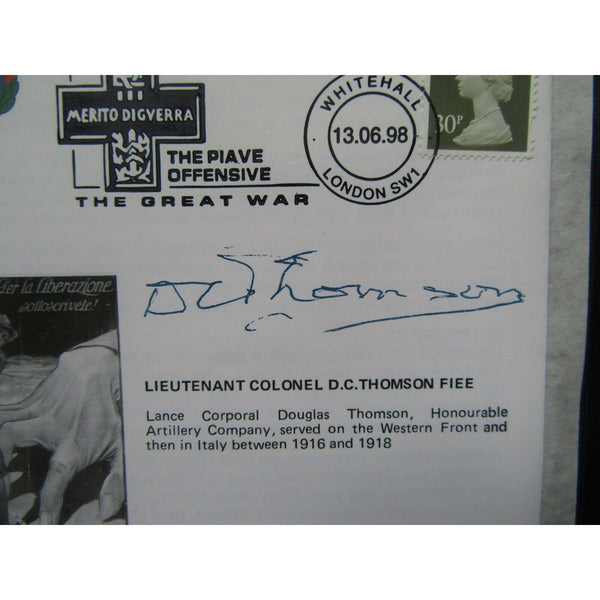 The Great War 54 'The Piave Offensive' Cover - Signed 'D. C. Thomson' 13/06/98 - uk-cover-lover