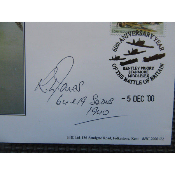 Flt Lt R. L. Jones Signed Cover - Flew 64 & 19 Squadrons - uk-cover-lover