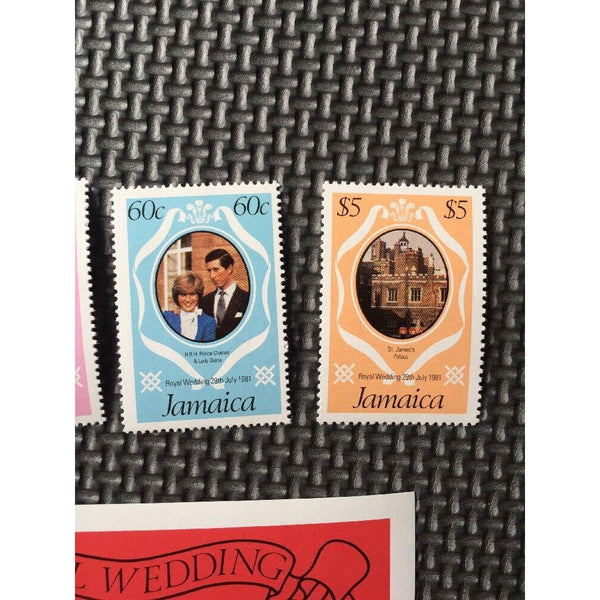 Jamaica - Royal Wedding 1981 - Set Of 4 Stamps & $5 Mini Sheet MNH - uk-cover-lover