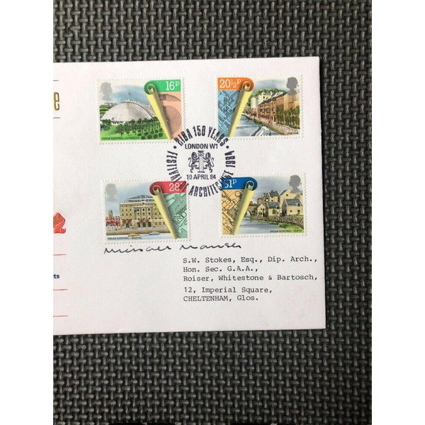 G.B Cotswold FDC 'Urban Renewal' PM 'RIBA, Festival Of Architecture W1' 10/04/84 - uk-cover-lover