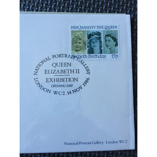 G.B FDC 'National Portrait Gallery, Opening Day' 14/11/86 Ltd Edition (see pics) - uk-cover-lover