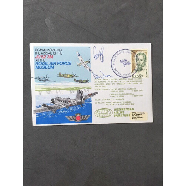 18/5/1978 Arrival of the JU 52 3M at the Royal Air Force Museum Signed (Pk S) - uk-cover-lover