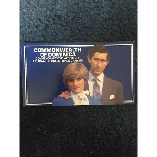 DOMINICA 1981 Royal Wedding Charles & Diana Self Adhesive Stamp Booklet MNH - uk-cover-lover