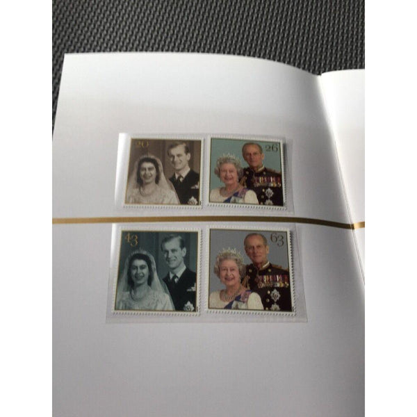 G.B Golden Wedding Commemorative Book (Includes PHQ Cards + 2 Stamp Sets) 1997 - uk-cover-lover