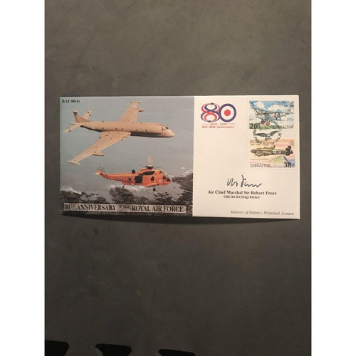 RAF 80(7) 80th Anniversary Of The Royal Air Force - Signed By Sir Robert Freer - uk-cover-lover