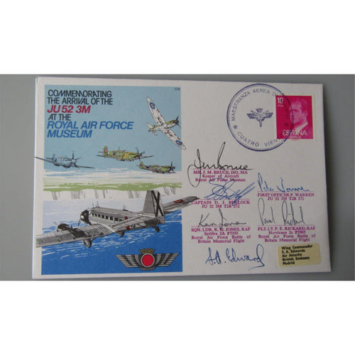 Commemorating The Arrival Of The JU 52 3M At The RAF Museum Multi Signed Cover - uk-cover-lover