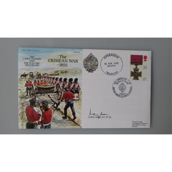 1992 JS(AC)57 Cover - The Crimean War 1855 - Signed Lord Raglan - uk-cover-lover