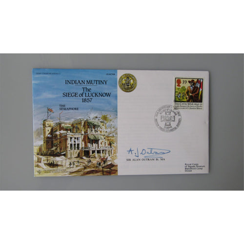 JS(AC)58 - Indian Mutiny - The Siege of Lucknow 1857 - Signed Sir Alan Outram - uk-cover-lover