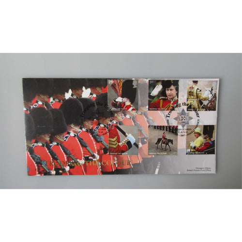 1999 G.B Commemorative Cover - Trooping The Colour PM Irish Guards BFPS 2857 - uk-cover-lover