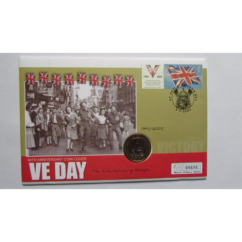 WWII 2005 VE Day 60th Anniversary £2 Coin Cover - uk-cover-lover