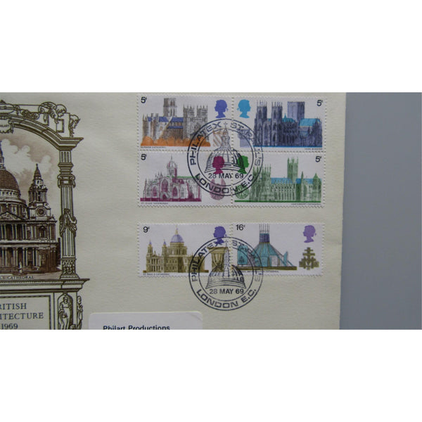 1969 G.B First Day Cover - British Cathedrals PM Philatex, St Pauls, London EC - uk-cover-lover