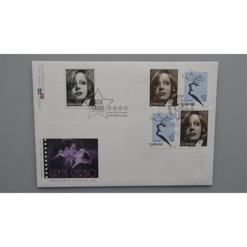 2005 Sweden / USA Joint Stamp Issue - Greta Garbo Cover - uk-cover-lover