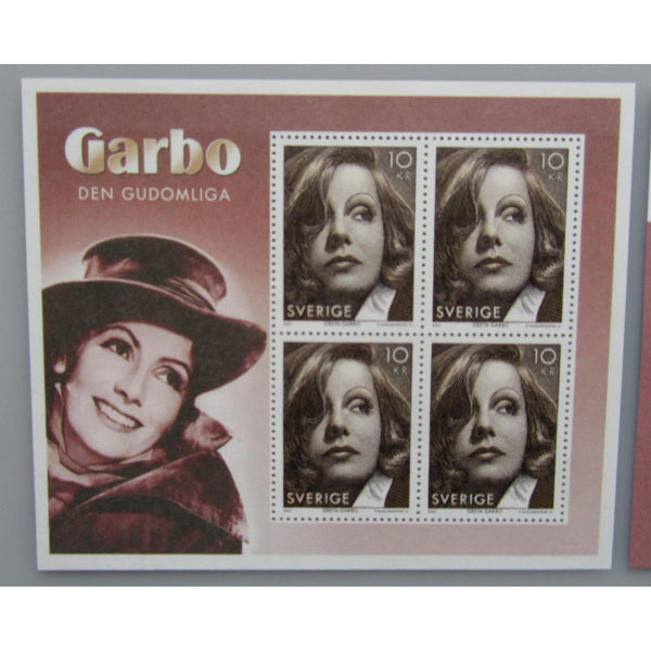 Sweden - Greta Garbo Souvenir Sheet (Limited to 30,000 Copies) - uk-cover-lover