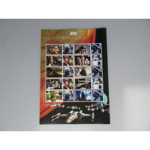 2015 Star Wars Heroes & Villains Smilers / Collectors Sheet (A4 Size) - uk-cover-lover