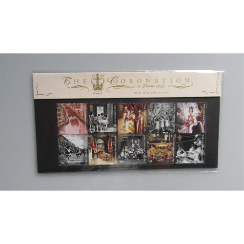 2003 G.B Presentation Pack - The Coronation - Pack 347 - uk-cover-lover