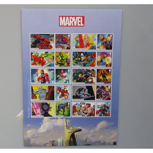 2019 Marvel Comics / Superheroes Smilers / Collectors Sheet (A4 Size) MNH - uk-cover-lover